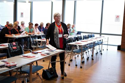 LO stats leder Tone Rønoldtangen. Foto: Anette Karlsen