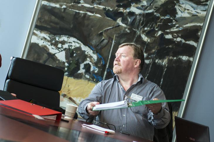 Fra lønnsoppgjøret i 2015, LO Stats nestleder Eivind Gran