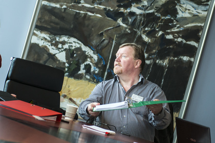 LO Stats nestleder Eivind Gran under fjorårets lønnsoppgjør