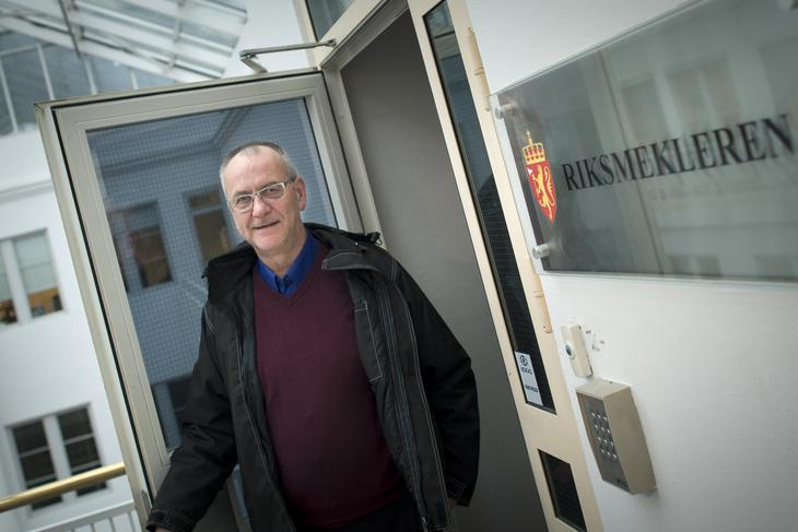 TIL MEKLEREN: Forhandlingene for ansatte ved Bodø lufthav har brutt sammen. LO Stats forhandlingsleder Øystein Gudbrands må på ny troppe opp hos Riksmekleren.
