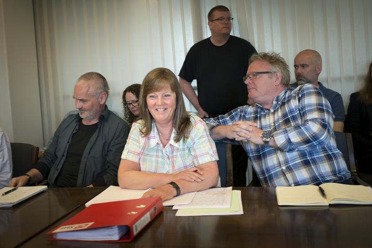 I MÅL: Lønnsoppgjøret i NRK er i havn. Lise Olsen, forhandlingsleder for LO Stat, kan fornøyd konstatere at ansatte vant fram på kravet om et rettferdig lønnssystem.