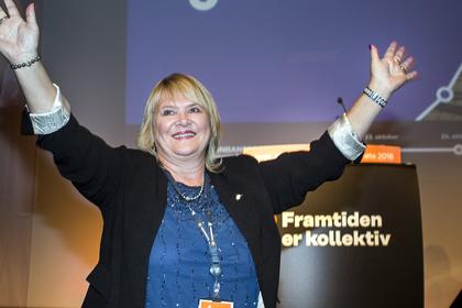 Jane B. Sæthre blir Jernbaneforbundets første kvinnelige leder. Foto: Ole Palmstrøm