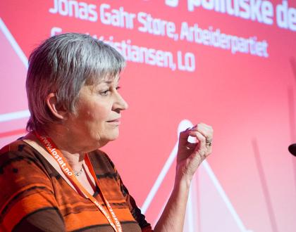 LO-leder Herd Kristiansen på kartellkonferansen