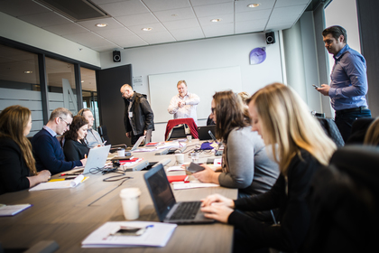 Forhandlingsleder Eivind Gran, og resten av LO Stats forhandlingsutvalg, er i gang med årets lønnsoppgjør i Spekter.