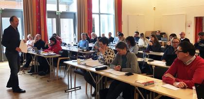 Siste samling på Sørmarka for kurset OLE - Organisering, læring og endring, april 2017