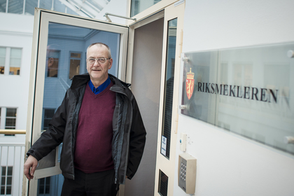 MEKLING: LO Stats forhandlingsleder Øystein Gudbrands, skal forsøke å løse floken i Akasia.