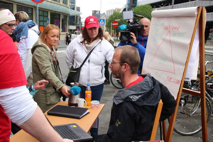 SLIK SLÅR DET UT: Fagforbundets pensjonsekspert Steinar Fuglevaag i fakta og påstander i kjølvannet av Akasia-streiken – der de ansatte streiker for pensjonen sin.