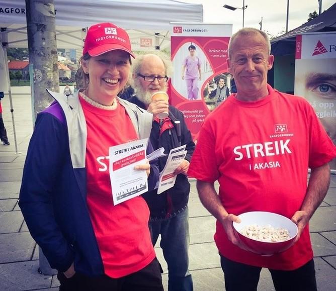 Fra fagbevegelsens dag i Bergen
