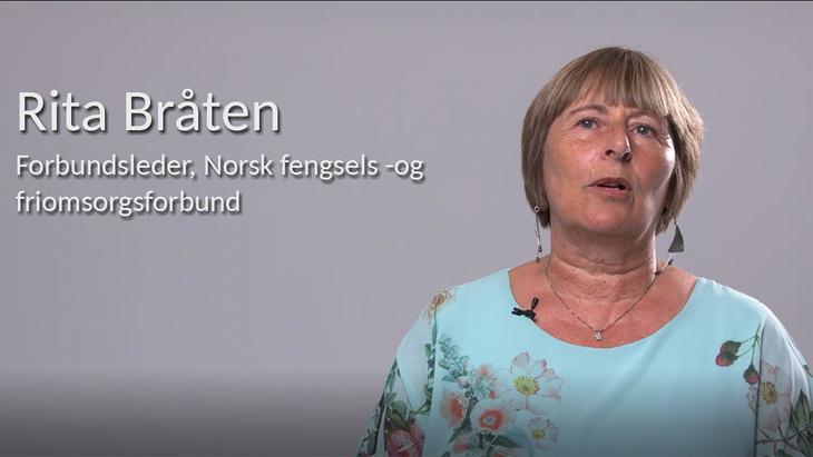 Rita Bråten, forbundsleder Norsk fengsels- og friomsorgsforbund