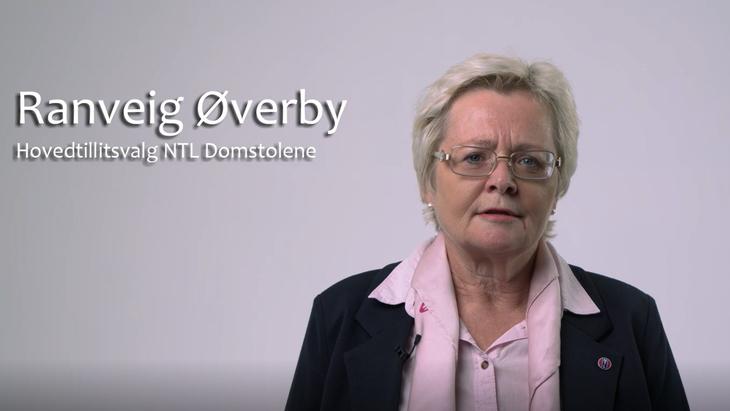 Ranveig Øverby, hovedtillitsvalgt NTL Domstolene