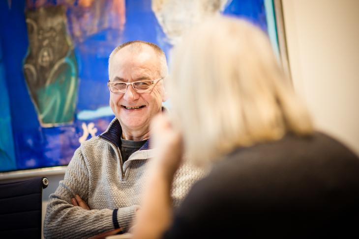 KOM I MÅL: Forhandlingsleder Øystein Gudbrands i LO Stat.