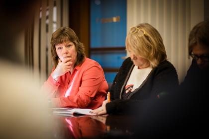 KREVENDE: – Meklingen har vært lang og svært krevende, sier Lise Olsen, forhandlingsleder og nestleder i LO Stat.
