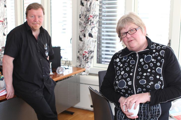 FORHANDLINGSKLARE: Leder Tone Rønoldtangen, og nestleder Eivind Gran i LO Stat, er klare til å ta fatt på den møysommelige prosessen som resulterer i en tariffavtale for henholdsvis staten og Spekter-området. Foto: Morten Hansen