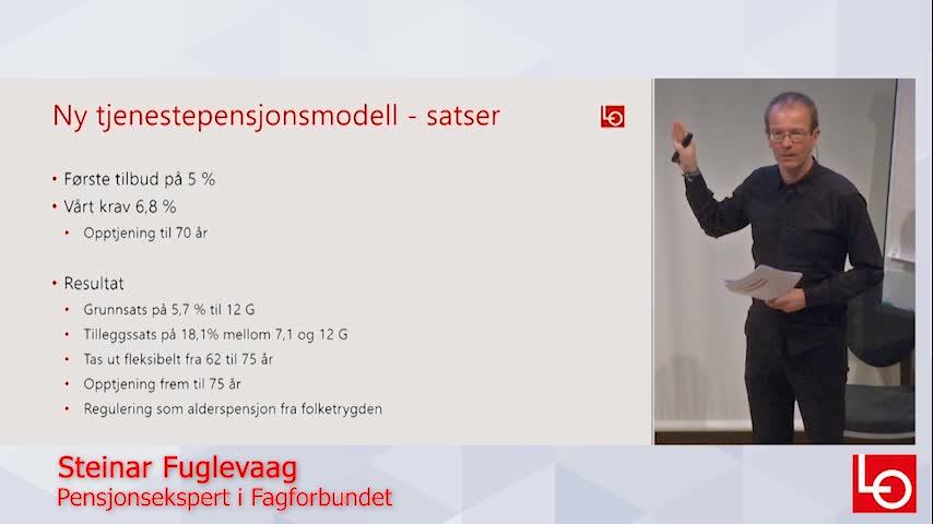 Hvor god blir ny offentlig tjenestepensjon? Fagforbundets pensjonsekspert Steinar Fuglevaag forteller.