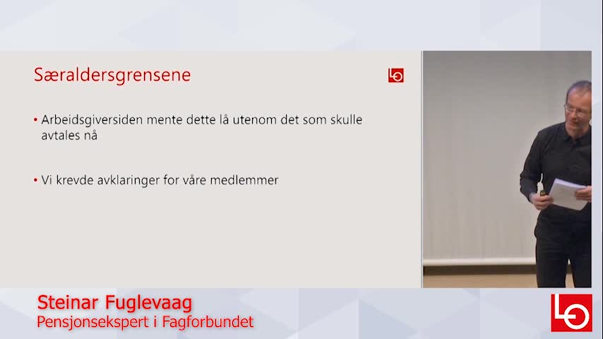 I dette forklarer Fagforbundets pensjonsekspert Steinar Fuglevaag hva som skjer med særaldersgrensene.