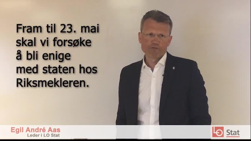 I dag 2. mai starter LO Stats leder Egil André Aas og resten av forhandlingsutvalget meklingen i lønnsoppgjøret i staten. Fristen for å bli enige med staten er 23. mai ved midnatt.
