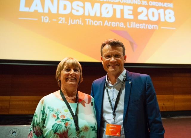 NFF-leder Rita Bråten og LO Stats leder Egil André Aas