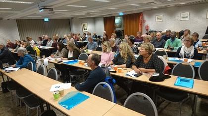 """63 deltakere fra staten var i dag møtt fram i Folkets Hus i Stavanger på LO Stat sitt kurs med tittelen """"Det du trenger å vite om pensjon"""""""