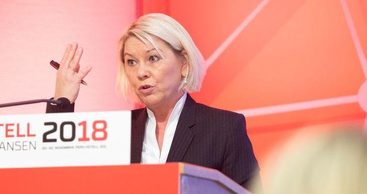 Monica Mæland på Kartellkonferansen