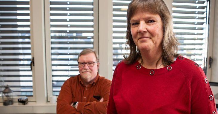 KLARE: LO Stat-nestlederne Lise Olsen og Eivind Gran starter forhandlingene med Spekter tirsdag.