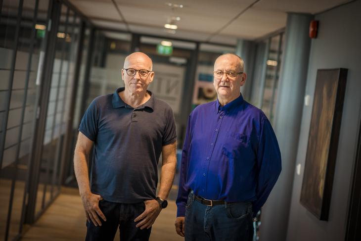 MEKLING: NJFs nestleder Kjell Næss (t.v.) og LO Stats forhandlingsleder Øystein Gudbrands kom ikke til enighet med Spekter.