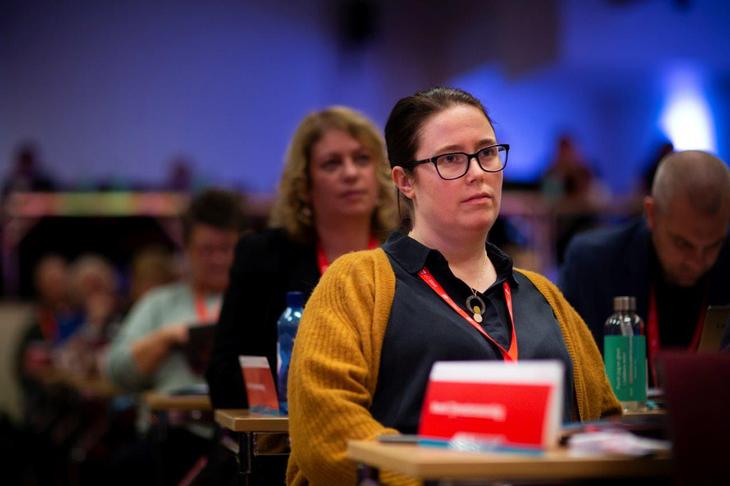 NTL-leder Kjersti Barsok på Kartellkonferansen 2019