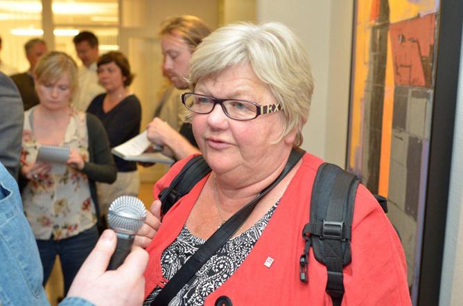 LO Stat-leder Tone Rønoldtangen må skuffet konstatere at det ble streik i staten. Foto: Kristian Brustad