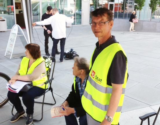 STREIKESJEF: Per-Arne Reum er streikesjef i Skatt Øst i hovedstaden. Han skryter av streikegjengen sin.