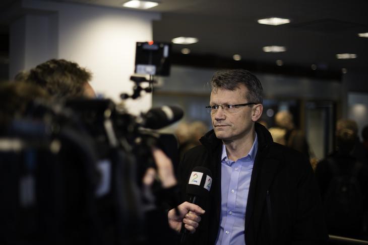 FORHANDLINGER: LO Stats leder Egil André Aas under forhandlingene om særaldersgrenene i offentlig sektor.