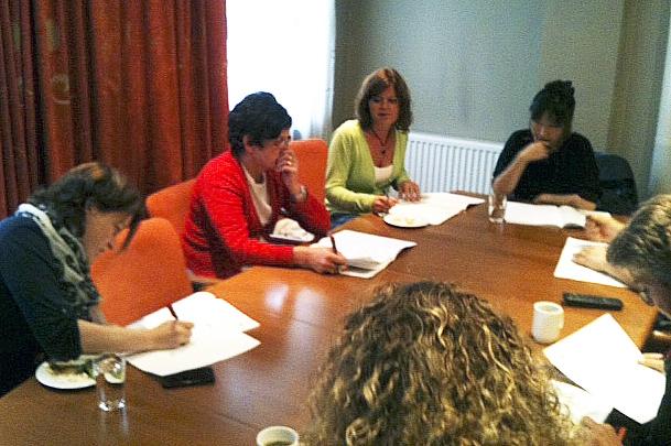 GRUPPEARBEID: Gruppearbeid er en viktig del av LO Stats kurs. (Foto: Birgit Stav)