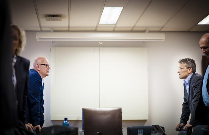 Gisle Norheim, personaldirektør i staten og Egil André, leder av LO Stat.