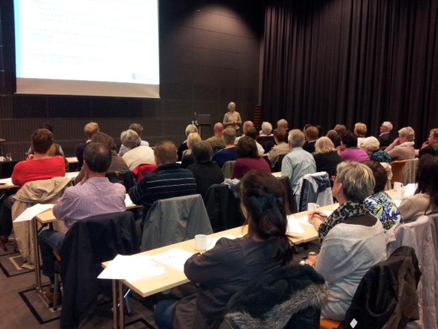 STOR INTERESSE: Kurs i pensjon samler folk. Her fra Sarpsborg.