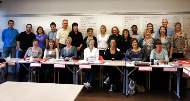 FORHANDLERE: Kurs i forhandling er nyttig, mener disse deltakerne på LO Stats ukeskurs. Foto: Mona Fagerheim.