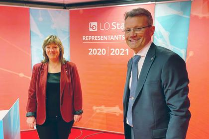 Lise Olsen og Egil André Aas er klare for digitalt representantskapsmøte