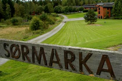 Porten inn til Sørmarka kurs- og konferansesenter