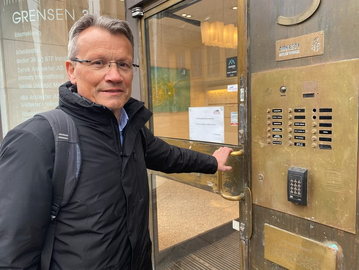 LO Stats leder Egil André Aas foran meklingen i statsoppgjøret 2021
