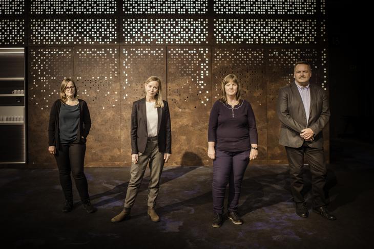 BRUDD: Fra venstre Nora Hagen, Christine Thomassen, Lise Olsen og Dag Agledal.