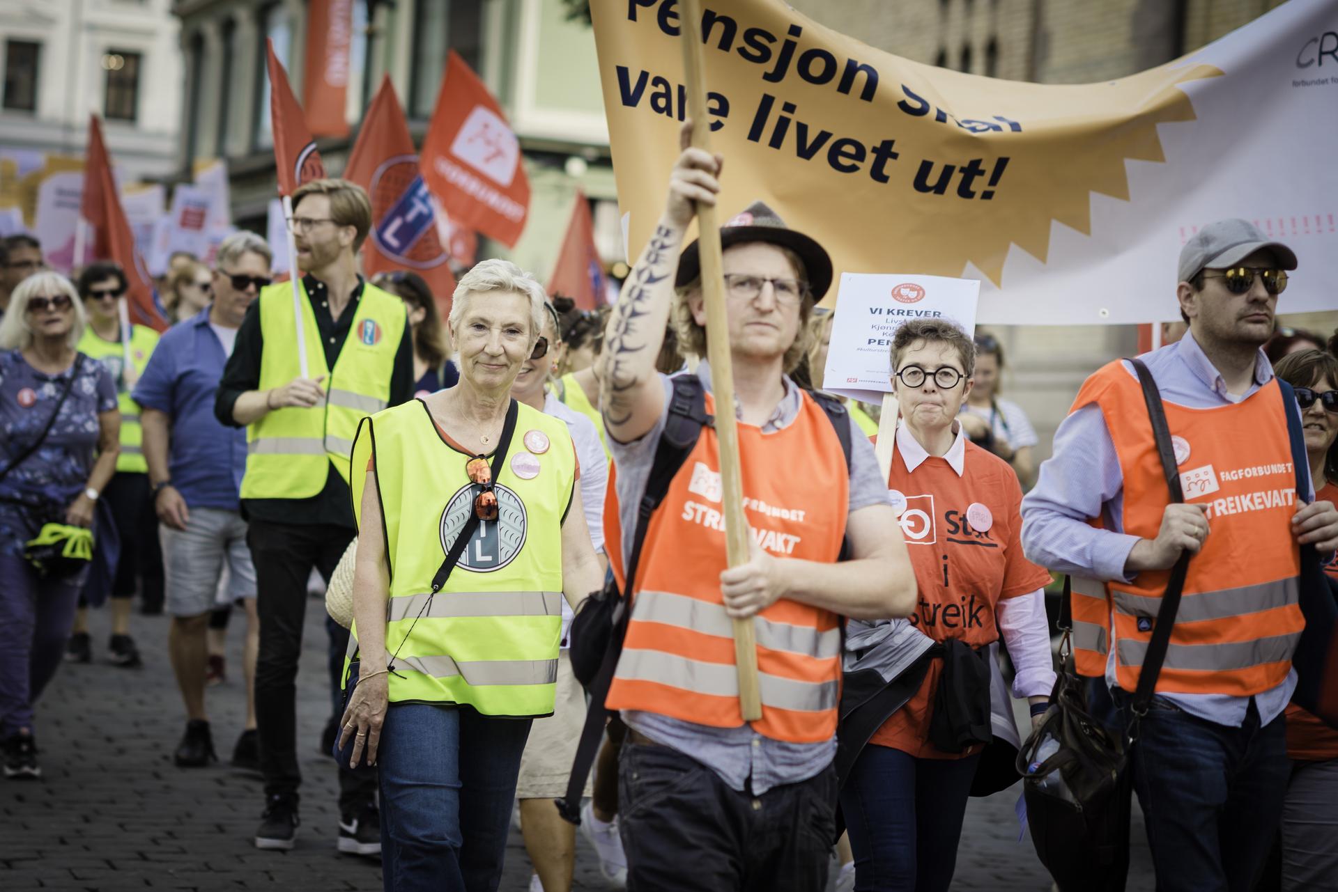 marsj for rettferdig pensjon