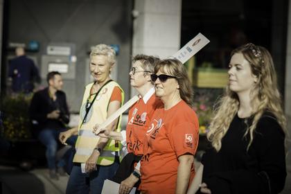 STREIK: - Vi beveget oss milevis da vi ble med på den midlertidige pensjonsordningen i 2016. Arbeidsgiverne må møte oss på de siste 100 meterne for å få en slutt på denne streiken, sier Lise Olsen, forhandlingsleder og nestleder i LO Stat.
