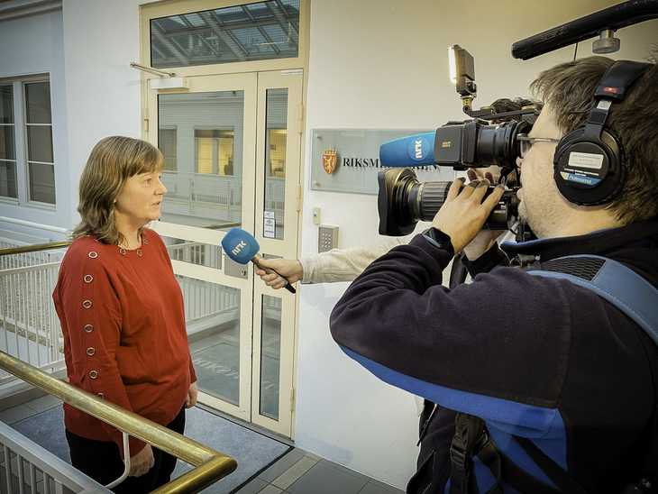 LO Stats nestleder Lise Olsen under meklingen i kulturstreiken.