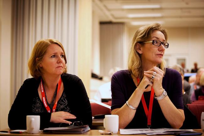 Fafo-forskerne Anne Britt Djuve og Tone Fløtten. Foto: Ole Palmstrøm