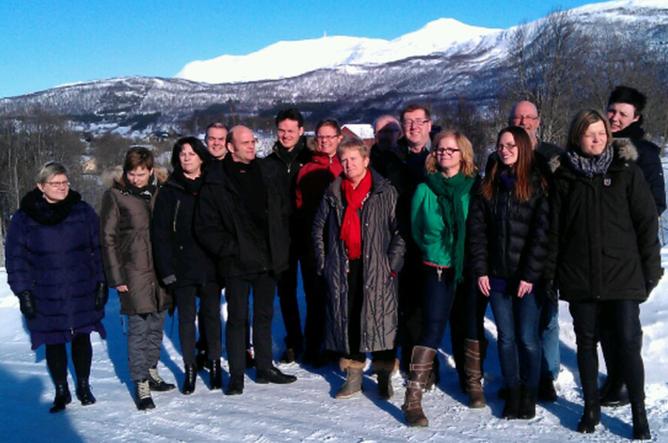 SYYKEFRAVÆR: Den sentrale samarbeidsgruppa i statens sykefraværsprosjekt fikk gode tips da de besøkte Silsand ungdomshjem på Senja.