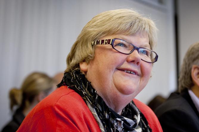 LO Stats leder, Tone Rønoldtangen. Foto: Ole Palmstrøm