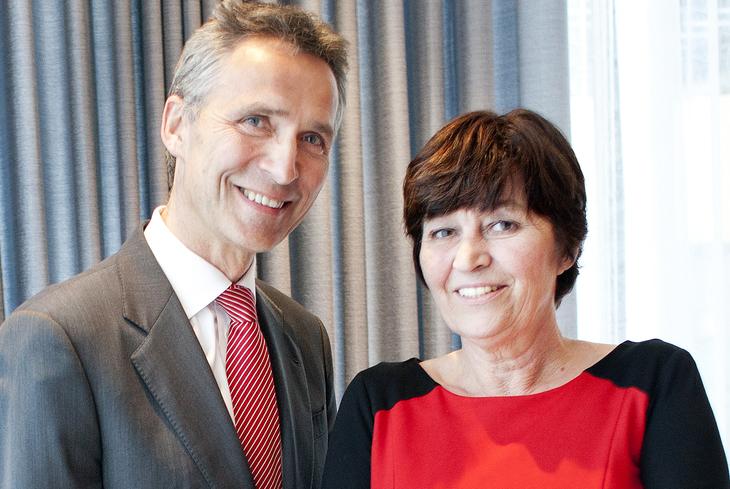 Jens Stoltenberg og Gerd Kristiansen. Foto: Bjørn A. Grimstad