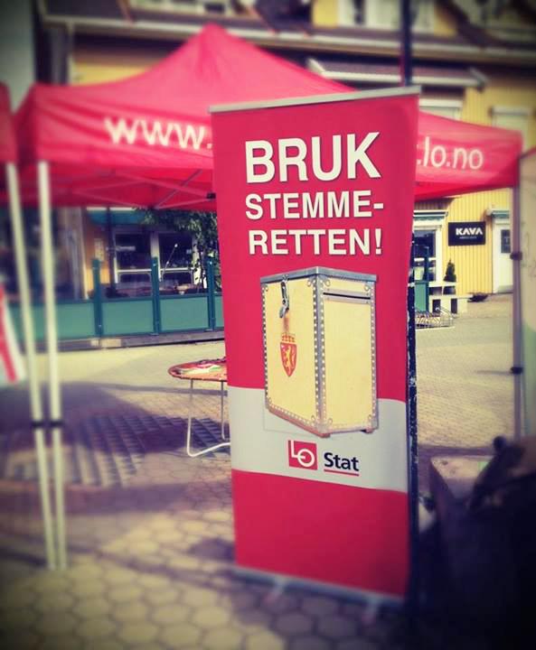 Fra valgkampen i Elverum, Stortingsvalget 2013. Foto: Jørund Hassel