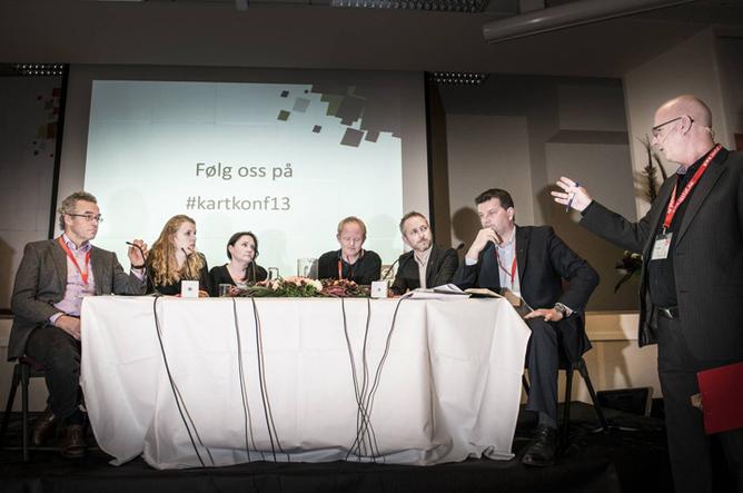 Fra panelbebatten om klima. foto: Kristian Brustad