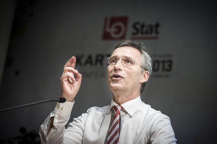 Jenst Stoltenberg innledet den faglig-politiske debatten på Kartellkonferansen 2013
