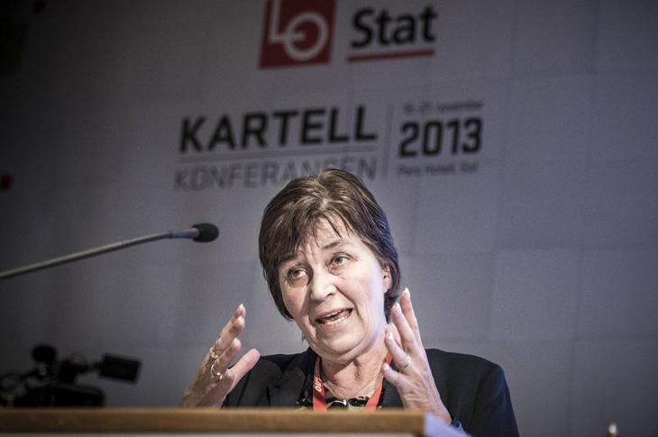 LO-leder Gerd Kristiansen på Kartellkonferansen. Foto:  Kristian Brustad