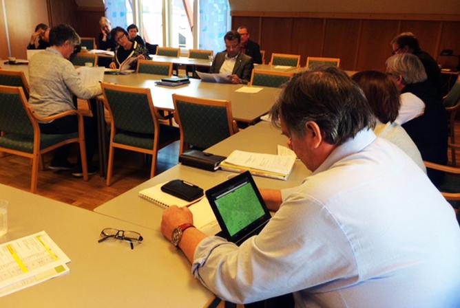 Forhandlingsutvalget i staten april 2014. Foto: Stein Erik Syrstad