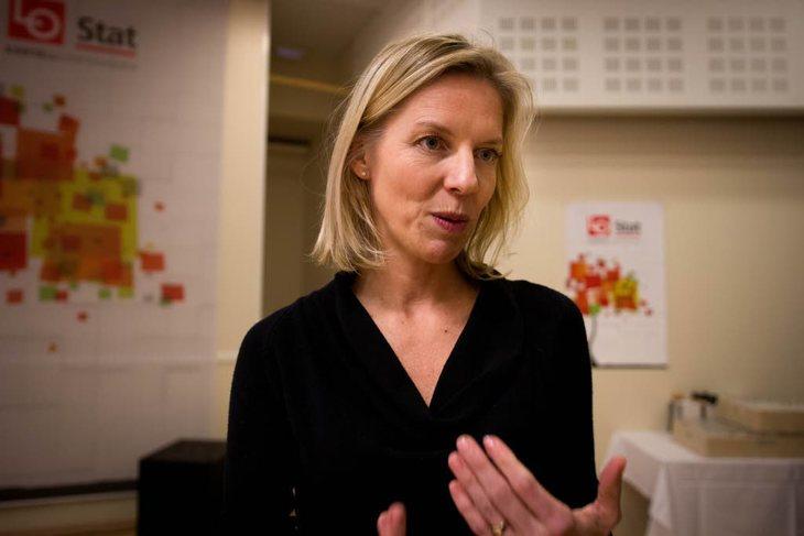 Studier viser at det som er viktig for de ansatte er å være en del av et felleskap, bli sett, gjøre noe meningsfullt og ha en leder som ser dem, sier Marte Gerhardsen, leder av tankesmia Agenda Foto: Siri Hardeland
